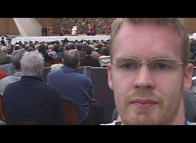 There is a shot of me at the Pope audience
