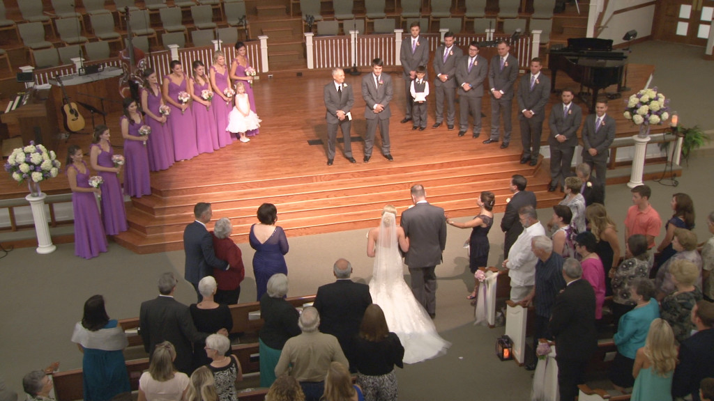 Wedding Party - River Hills Baptist Church wedding