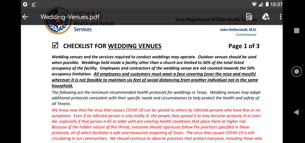 Wedding Checklist COVID